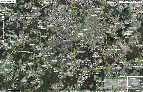 Схема проезда в город Пущино